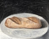 14. Bread 11''x14'' 27.94x35.56cm oil painting on wood 2019