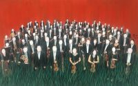 29.NATIONAL ORCHESTRA-3 10''x16'' 25x41cm acrylic on magazine picture 2019
